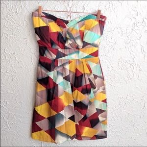 American Rag Geometric Shape Strapless Dress Sz S